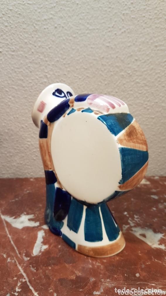 Antigüedades: Hombre con bombo cerámica Sargadelos. Medidas 15,5 cm largo x 16 cm alto. - Foto 3 - 172794965