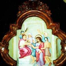 Antigüedades: JESÚS ANTE PILATOS CREO ESCAYOLA. BONITO. Lote 172798823