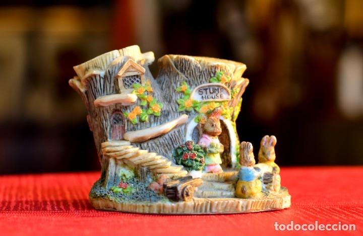 FIGURA DE RESINA VINTAGE: STUMP HOUSE (Antigüedades - Hogar y Decoración - Otros)