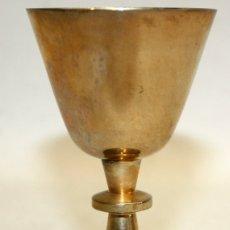 Antigüedades: CALIZ REALIZADO EN METAL DE APROXIMADAMENTE 1940. Lote 172809214