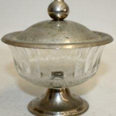 Antigüedades: COPON REALIZADO EN CRISTAL Y METAL PLATEADO DE APROXIMADAMENTE 1930. Lote 172809995