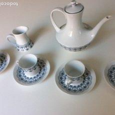 Antigüedades: JUEGO DE CAFÉ CON 10 TAZAS DE CAFÉ DE PORCELANA BIDASOA. Lote 131200624