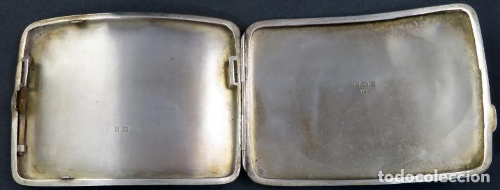 Antigüedades: Pitillera en plata grabada inglesa finales del siglo XIX - Foto 5 - 172822202