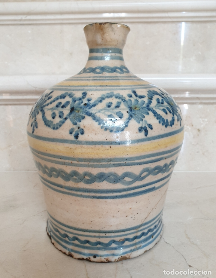 Antigüedades: MAGNIFICA ALCUZA,JARRA EN CERAMICA DE PUENTE DEL ARZOBISPO,(TOLEDO),S. XIX - Foto 4 - 172825940
