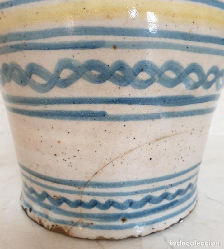 Antigüedades: MAGNIFICA ALCUZA,JARRA EN CERAMICA DE PUENTE DEL ARZOBISPO,(TOLEDO),S. XIX - Foto 6 - 172825940