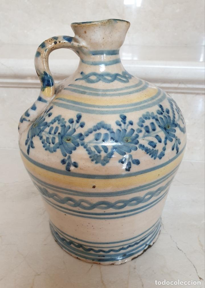 Antigüedades: MAGNIFICA ALCUZA,JARRA EN CERAMICA DE PUENTE DEL ARZOBISPO,(TOLEDO),S. XIX - Foto 8 - 172825940