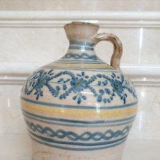 Antigüedades: MAGNIFICA ALCUZA,JARRA EN CERAMICA DE PUENTE DEL ARZOBISPO,(TOLEDO),S. XIX. Lote 172825940