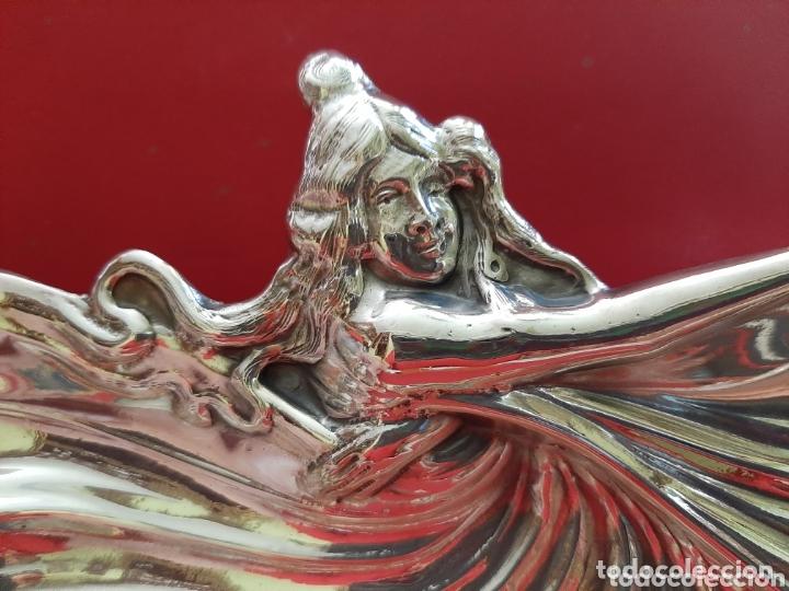 Antigüedades: PRECIOSA BANDEJA MODERNISTA PARA APERITIVOS DE PLATA MENESES, PPS DE SIGLO XX - Foto 3 - 172827805