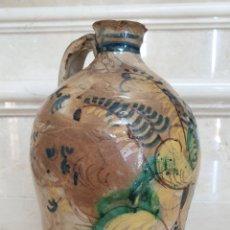 Antigüedades: MAGNIFICA ALCUZA,JARRA EN CERAMICA DE PUENTE DEL ARZOBISPO,(TOLEDO),S. XVIII. Lote 172827933