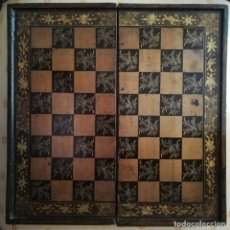 Antigüedades: PRECIOSO TABLERO DE AJEDREZ EN LACA CHINA. SIGLO XIX-XX. Lote 172827972