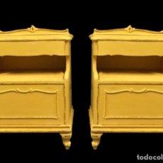 Antigüedades: ANTIGUAS MESILLAS,PINTADAS EN AMARILLO ANNIE SLOAN,PRECIOSAS. Lote 172831014