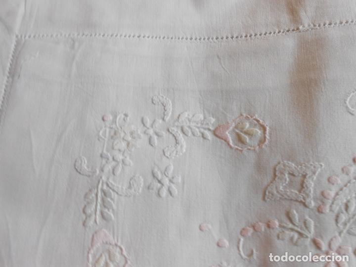 Antigüedades: Juego sabanas,colección antiqua años 80.Algodon puro,bordado a mano.Blanco.240 x 275 cm.Nuevo - Foto 11 - 172837214