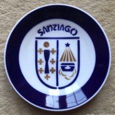 Antigüedades: PLATO O CENICERO PORCELANA DE SARGADELOS - ESCUDO DE SANTIAGO - VI CONGRESO DE LA SEOC. 1997. Lote 172845058