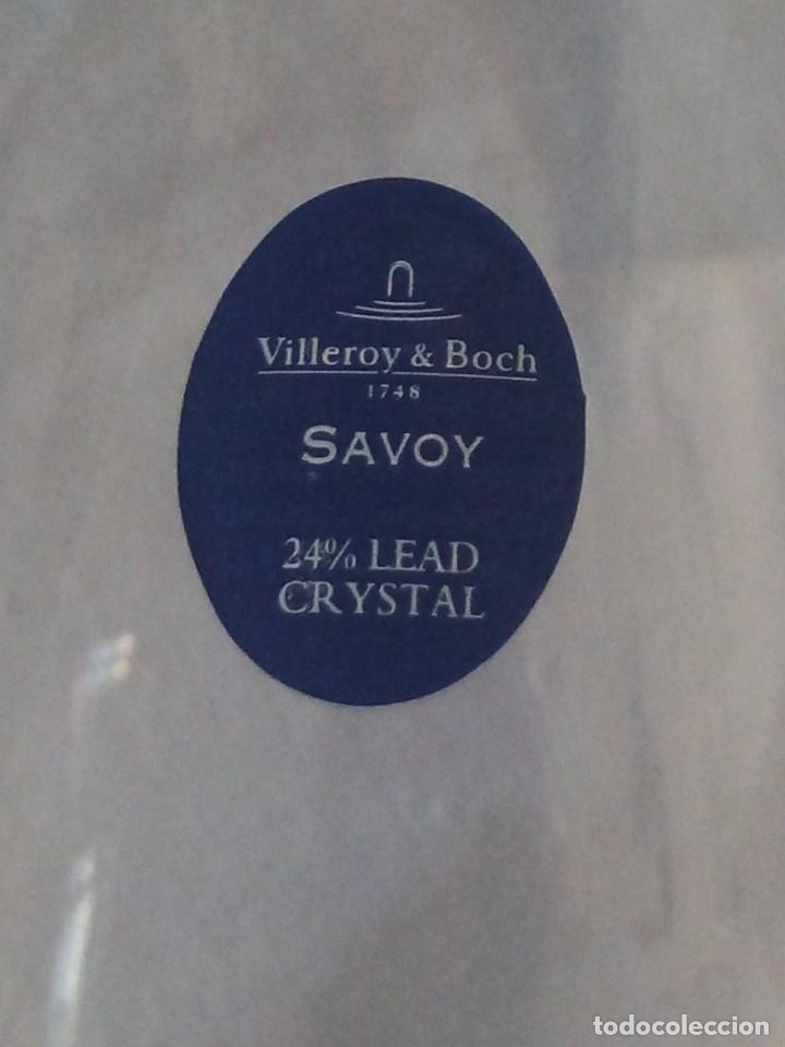 CRISTALERÍA COPAS DE VINO Y CHAMPAGNE VILLEROY & BOCH SAVOY 24% LEAD CRYSTAL.12 PIEZAS. (Antigüedades - Cristal y Vidrio - Inglés)