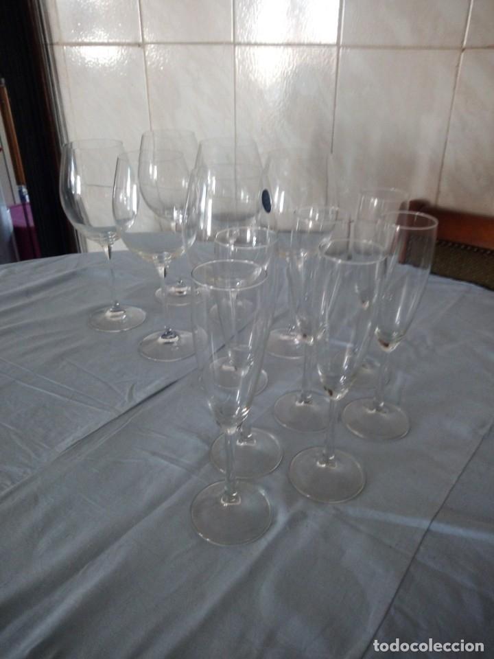 Antigüedades: Cristalería copas de vino y champagne villeroy & boch savoy 24% lead crystal.12 piezas. - Foto 2 - 172869955
