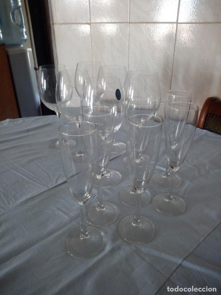 Antigüedades: Cristalería copas de vino y champagne villeroy & boch savoy 24% lead crystal.12 piezas. - Foto 3 - 172869955