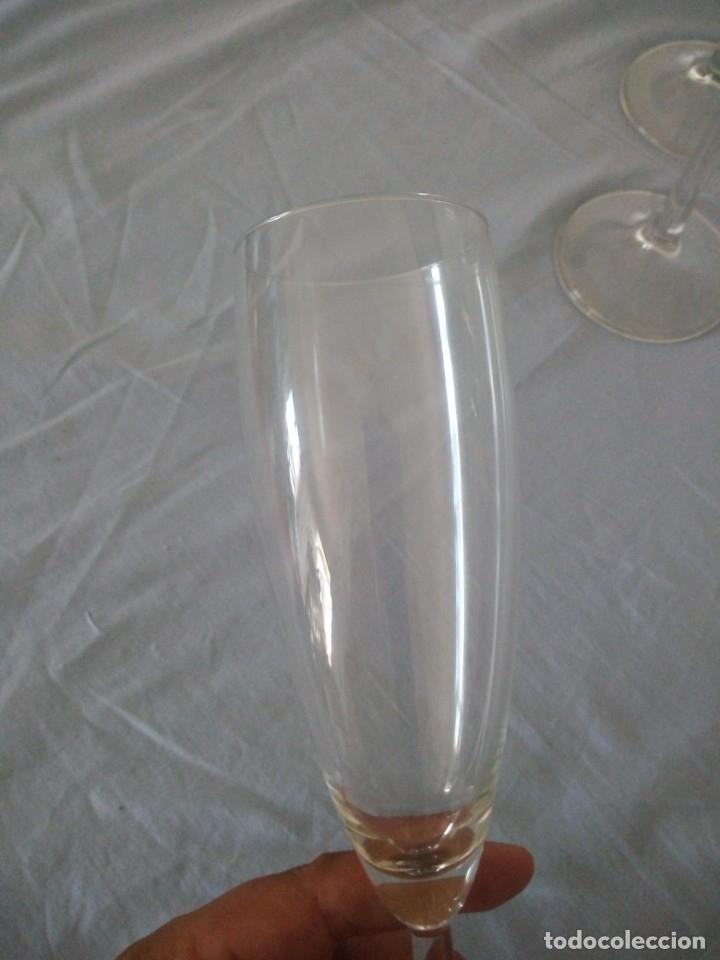 Antigüedades: Cristalería copas de vino y champagne villeroy & boch savoy 24% lead crystal.12 piezas. - Foto 6 - 172869955