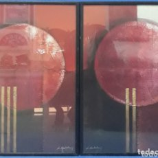 Antigüedades: PAREJA DE CUADROS LAMINAS FIRMADAS K.KORTOLMES. Lote 172871110