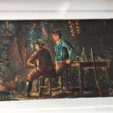 Antigüedades: ÓLEO SOBRE TABLILLA. Lote 172873520