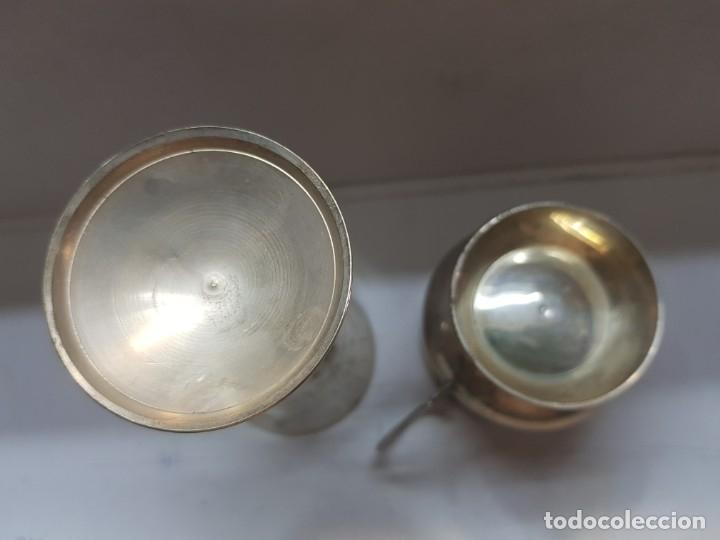 Antigüedades: Copa y jarra plata grabado a mano finales 1800 - Foto 3 - 172874883