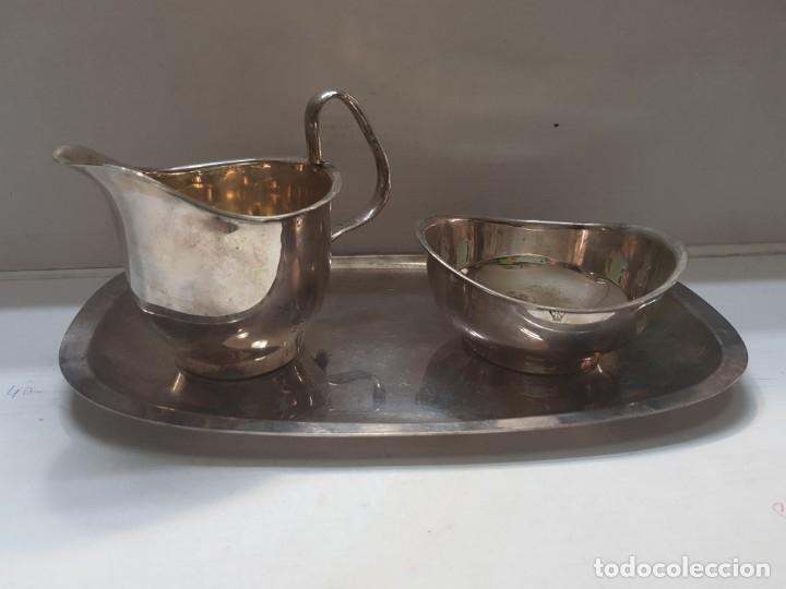 JUEGO PLATA VN MUY DIFÍCIL DE ENCONTRAR SIGLO XIX SELLADO (Antigüedades - Platería - Bañado en Plata Antiguo)