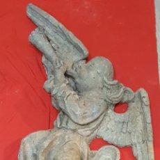 Antigüedades: PAREJA DE ÁNGELES MUSIQUEROS DE PLOMO S.XVI. Lote 172881808