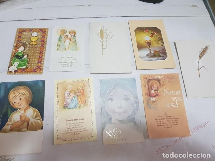 LOTE 9 RECORDATORIOS PRIMERA COMUNIÓN ALICANTE (Antigüedades - Religiosas - Varios)