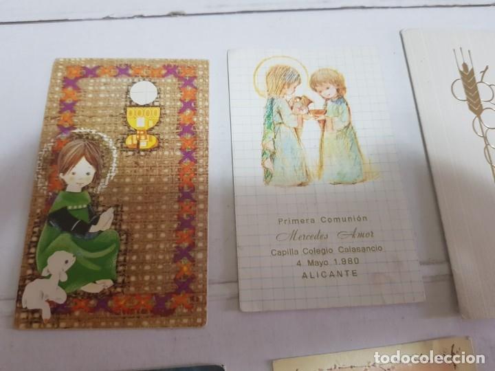 Antigüedades: Lote 9 recordatorios primera comunión Alicante - Foto 2 - 172887488