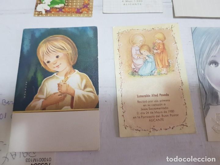 Antigüedades: Lote 9 recordatorios primera comunión Alicante - Foto 4 - 172887488