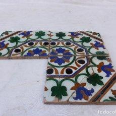 Antigüedades: LOTE DE 3 AZULEJOS ANTIGUOS DE TALAVERA DE LA REINA ( TOLEDO ) RUIZ DE LUNA.. Lote 172888929
