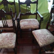 Antigüedades: PAR DE SILLONES Y DOS SILLAS. Lote 172892710