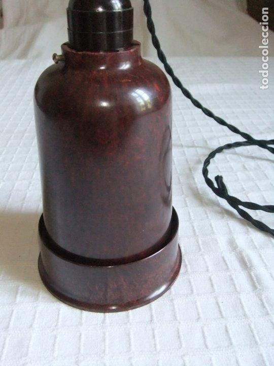 Antigüedades: MUY ANTIGUA LÁMPARA FOCO DE BAQUELITA - Foto 7 - 172897390