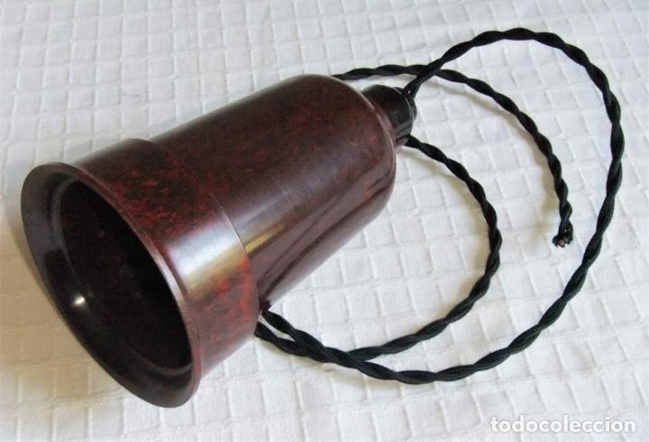 Antigüedades: MUY ANTIGUA LÁMPARA FOCO DE BAQUELITA - Foto 10 - 172897390