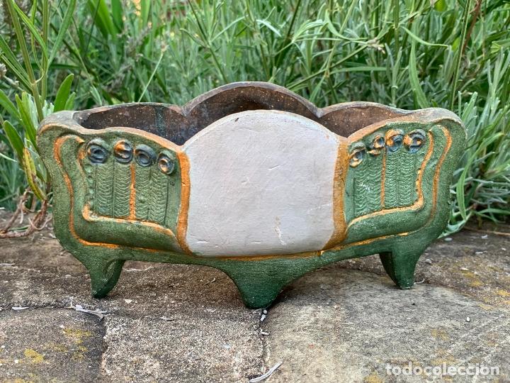 Antigüedades: Extraordinaro centro de mesa modernista, de Olot. En terracota policromada - Foto 4 - 172899123