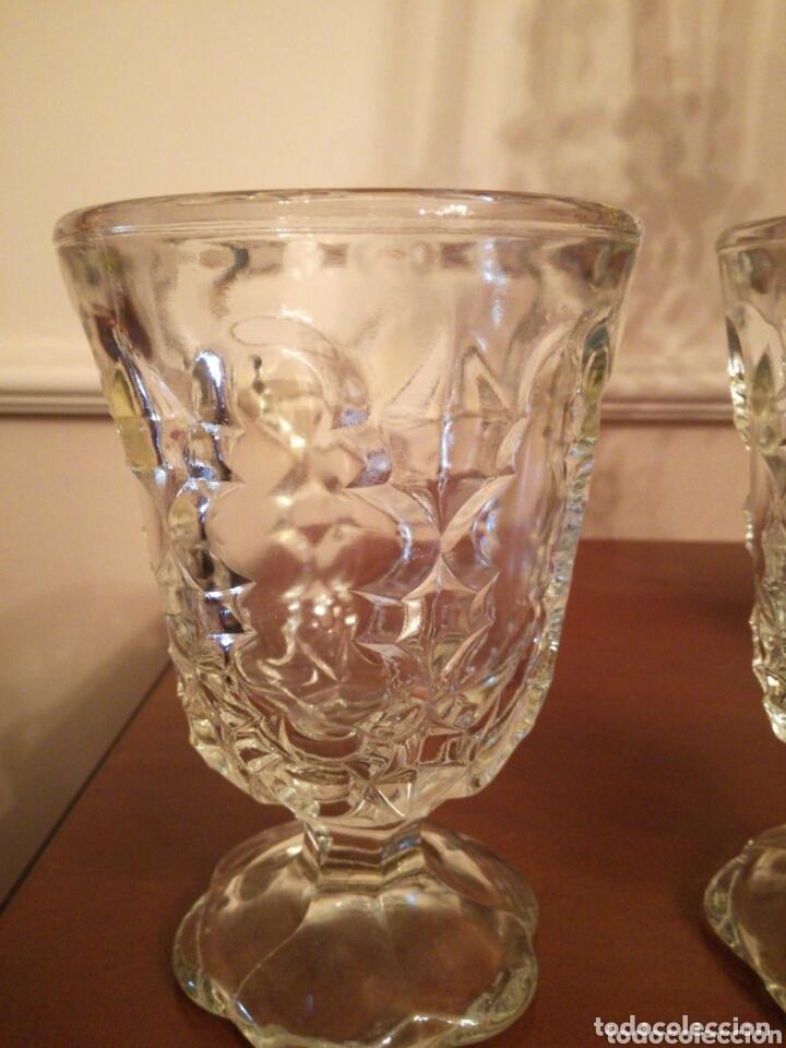Antigüedades: Pareja de antiguas copas cristal Cartagena - Foto 2 - 172900825