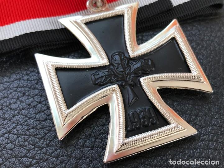 Antigüedades: Cruz de Caballero con hojas de roble 57 eichenlaub ritterkreuz Reich Hitler Fuhrer NSDAP nazi - Foto 2 - 172902799