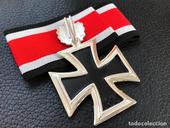 Antigüedades: Cruz de Caballero con hojas de roble 57 eichenlaub ritterkreuz Reich Hitler Fuhrer NSDAP nazi - Foto 12 - 172902799