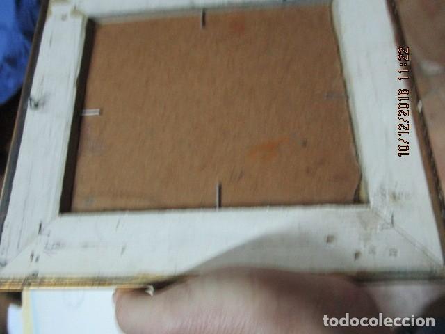 Antigüedades: cuadro oleo firmado con marco de madera dorado - Foto 7 - 172920865