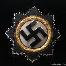 Antigüedades: CRUZ ALEMANA EN ORO, DEUTSCHES KREUZ, TERCER REICH, ADOLF HITLER, NSDAP, FUHRER, MEDALLA,NAZI. Lote 172928184