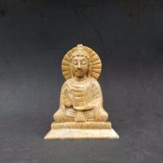 Antigüedades: BUDA EN ESTEATITA. PIEDRA DE JABÓN. SOAPSTONE. Lote 172931754
