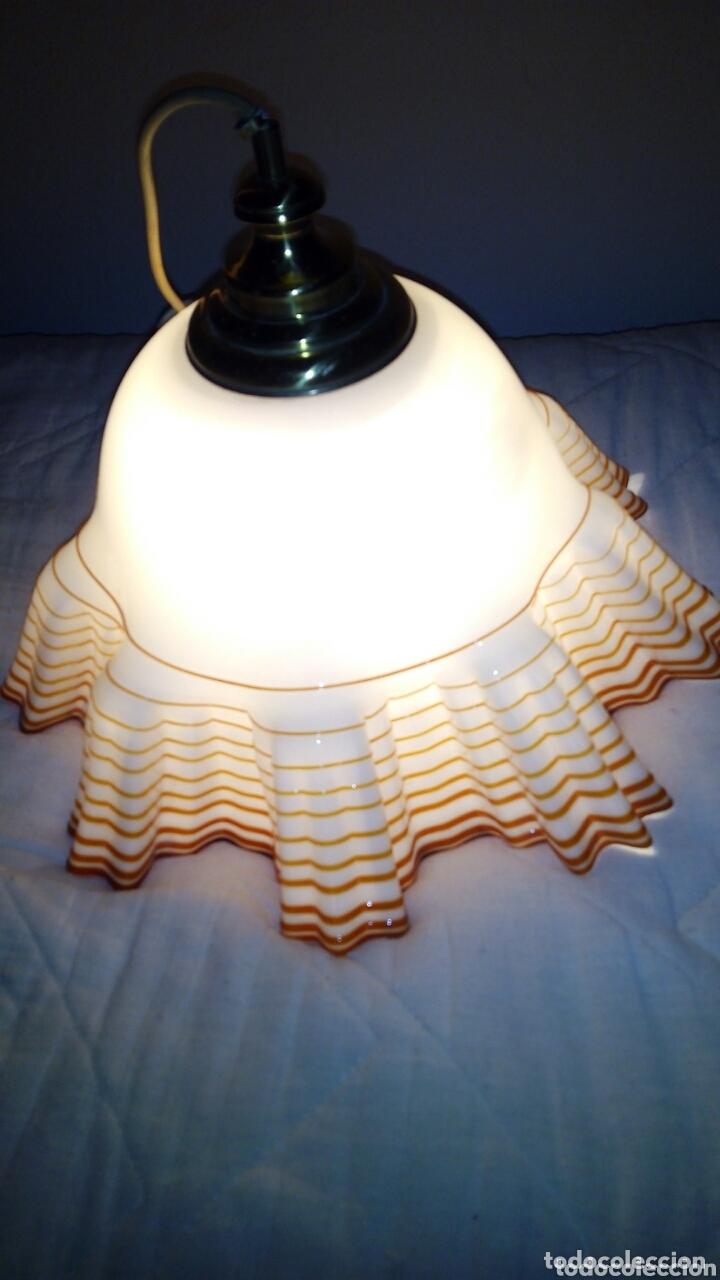 Antigüedades: Espectacular lampara Opalina,crital soplado.44 cm - Foto 3 - 172942730