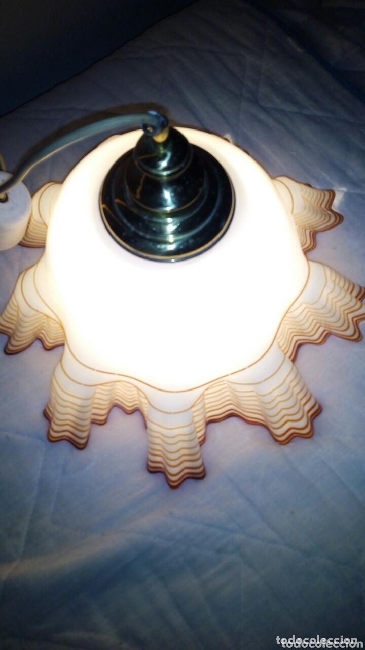 Antigüedades: Espectacular lampara Opalina,crital soplado.44 cm - Foto 4 - 172942730