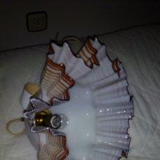 Antigüedades: ESPECTACULAR LAMPARA OPALINA,CRITAL SOPLADO.44 CM. Lote 172942730