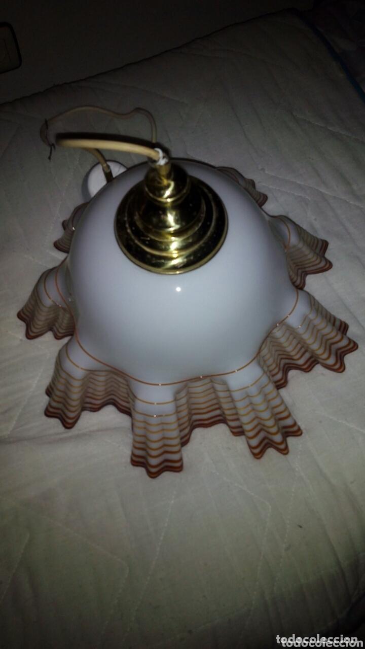 Antigüedades: Espectacular lampara Opalina,crital soplado.44 cm - Foto 8 - 172942730