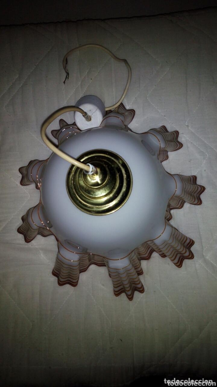 Antigüedades: Espectacular lampara Opalina,crital soplado.44 cm - Foto 11 - 172942730