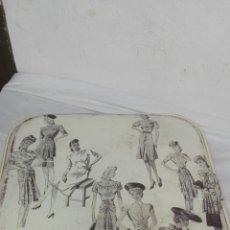 Antigüedades: MALETIN FIN DE SEMANA, DECORADO POR TODAS SUS CARAS Y FORRADO POR DENTRO, MEDIDAS 32X32, 16 DE FONDO. Lote 158754562