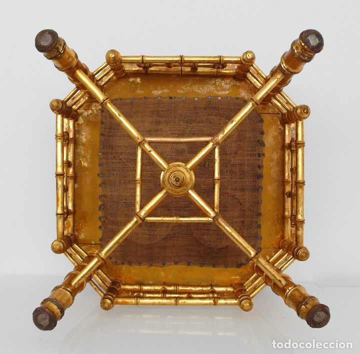 Antigüedades: TABOURET REPOSE PIEDS NAPOLEON III BAMBOU REPOSA PIES SILLA BAMBU DORADO XIX FOOT STOOLS GILTWOOD - Foto 10 - 172965820