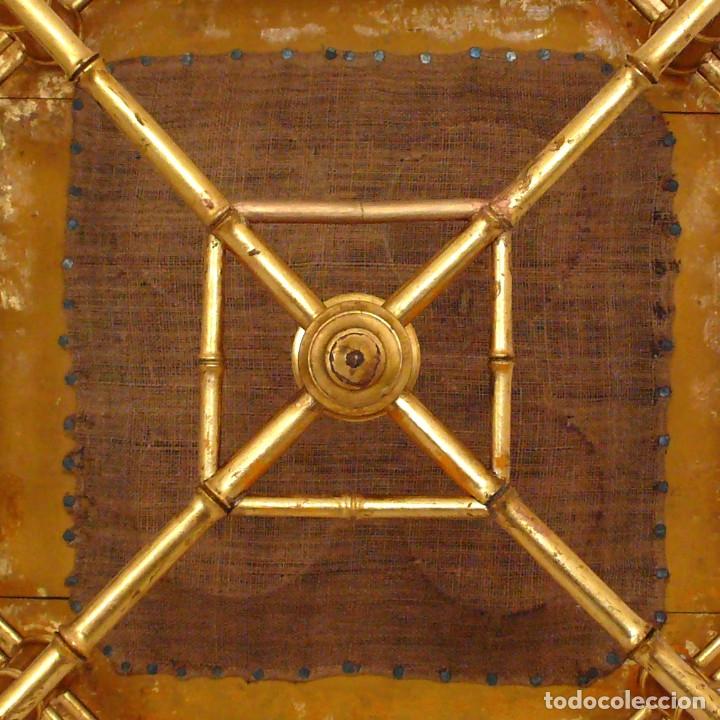 Antigüedades: TABOURET REPOSE PIEDS NAPOLEON III BAMBOU REPOSA PIES SILLA BAMBU DORADO XIX FOOT STOOLS GILTWOOD - Foto 11 - 172965820