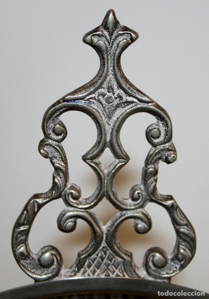 Antigüedades: PRECIOSO CENICERO - EN LATON PLATEADO - CASA VALENTI. - Foto 2 - 172968912