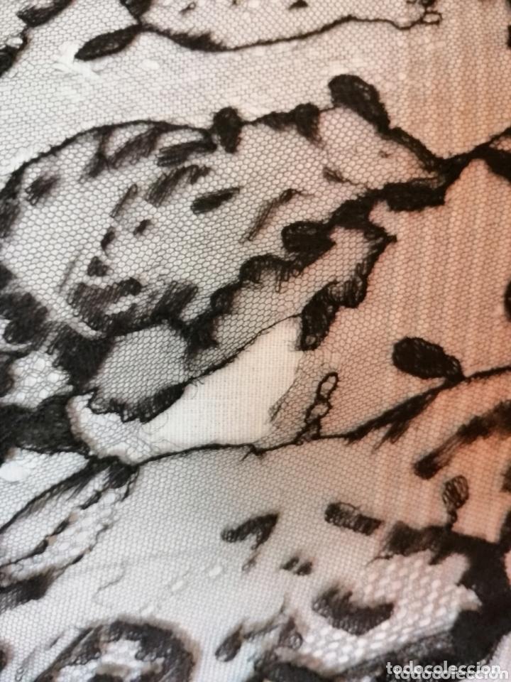 Antigüedades: Antigua mantilla de terno para restaurar o enmarcar - Foto 3 - 172972294
